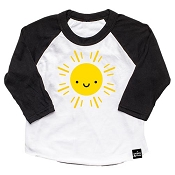Whistle & Flute Kawaii Sun Baseball T-Shirt