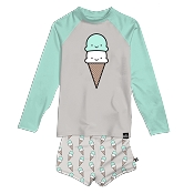 Whistle & Flute Kawaii Ice Cream Swim Set (Size 6-12 Months)