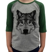 L&P Baseball Style Jersey - Wolf (Green & Grey)