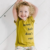 Little & Lively Kid's Messy Hair Don't Care T-Shirt
