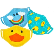 Zoocchini Toddler/Kids 3-Pack Organic Reusable Face Masks