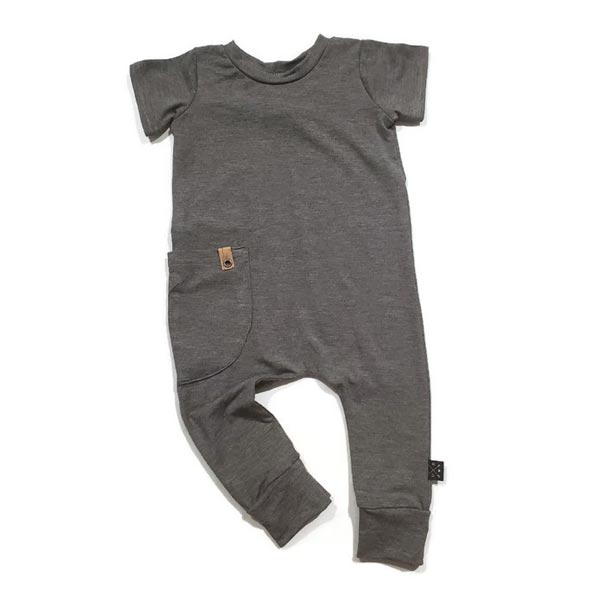 Urban Baby Apparel Urban Romper - Charcoal Bamboo