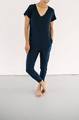 *Smash + Tess The Sunday Romper - Naturally Navy