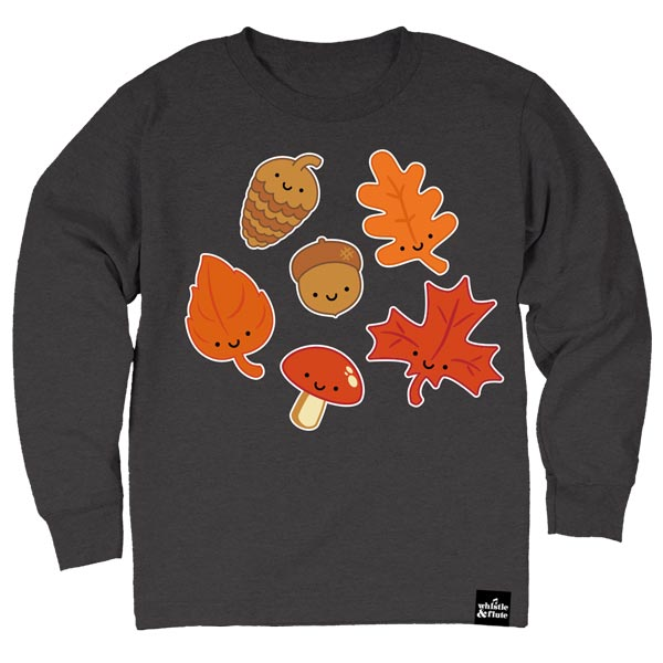 Whistle & Flute Kawaii Leaves Long Sleeve T-Shirt