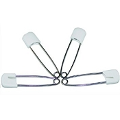 White Plastic Head Diaper Pin - Single