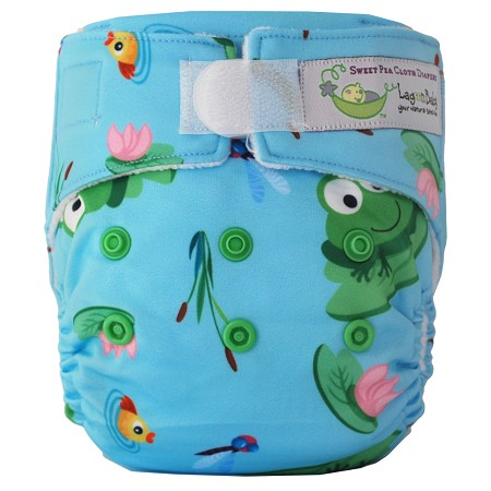 Sweet Pea Newborn All-in-One Cloth Diaper - Frogs & Fishtails
