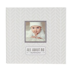 *Pearhead Baby Memory Book & Sticker Set White/Grey