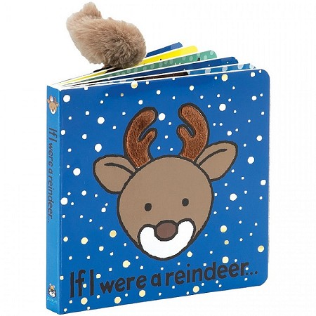 *Jellycat If I Were a Reindeer Book (Poofy Tail Edition)