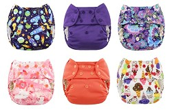 Blueberry Simplex All-in-One One Size Cloth Diaper 6-Pack