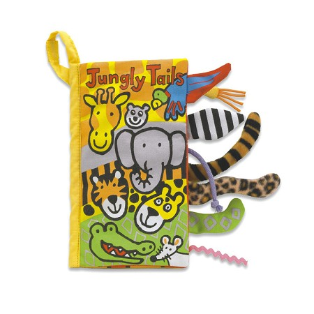 *Jellycat Soft Activity Book -  Jungly Tails