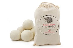 *Buttons 100% Wool Dryer Balls - 6 Pack
