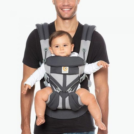 *Ergobaby ERGO Four Position 360 Baby Carrier with Cool Air Mesh - Carbon Grey