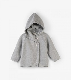 Hatley Shimmer Grey Hooded Baby Sweater *CLEARANCE*