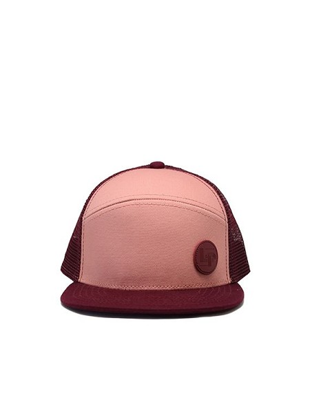 L&P Snapback Hat - Orleans - Pink & Burgundy (Junior Size)