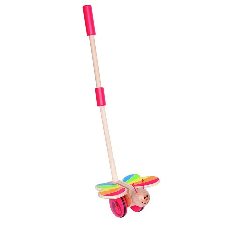*Hape Butterfly Wooden Push and Pull Walking Toy