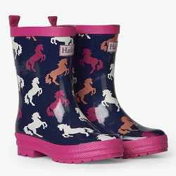 Hatley Shiny Rainboots - Playful Horses