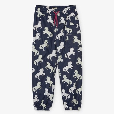 Hatley Colour Changing Splash Pants - Playful Horses (Size 7)