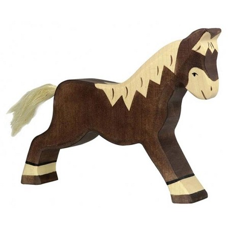*Holztiger Running Dark Brown Horse