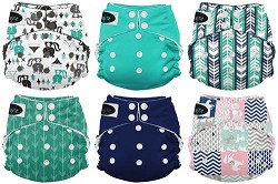 Imagine Baby One Size Stay Dry All-in-One Cloth Diaper 6-Pack
