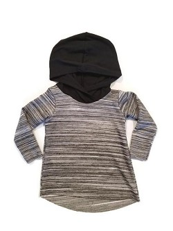 Urban Baby Apparel Edgy Hooded Tee - Ash *CLEARANCE*