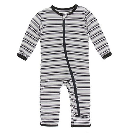 KicKee Pants Fitted Coverall - India Pure Stripe (Zipper) *CLEARANCE*