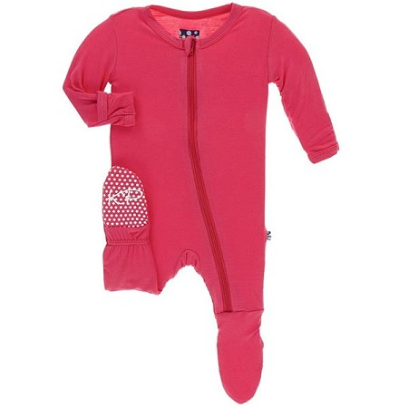KicKee Pants Coverall - Red Ginger (Zipper) (Size 18-24 Months)