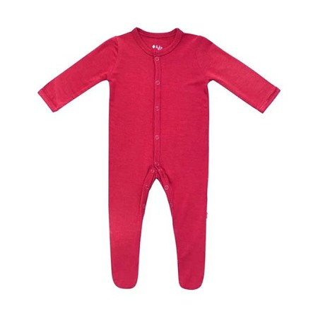 Kyte Baby Snap Footie - Ruby