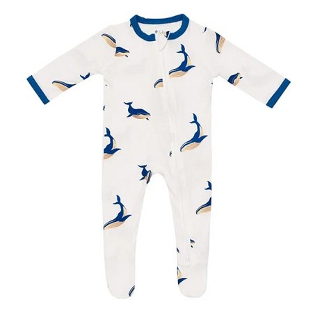 Kyte Baby Zippered Footie - Whale