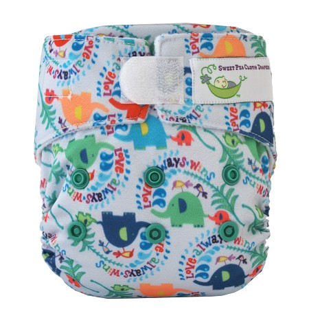 Sweet Pea BAMBOO Newborn All-in-One Cloth Diaper *Clearance Final Sale*