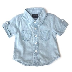 Little Bipsy Collection Denim Button-Up - Light Wash