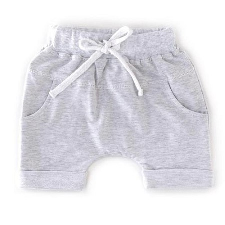 Little Bipsy Collection Rolled Harem Shorts - Heather Grey