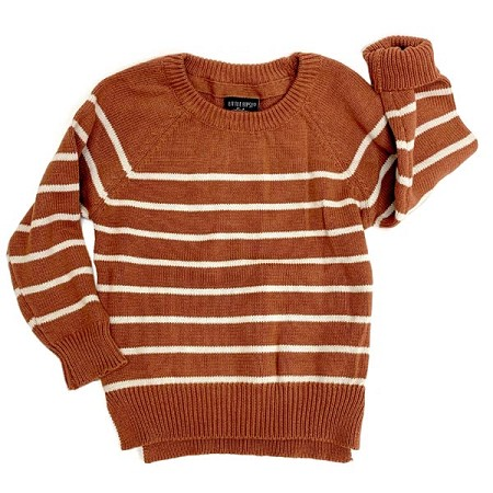 Little Bipsy Collection Knit Sweater Rust