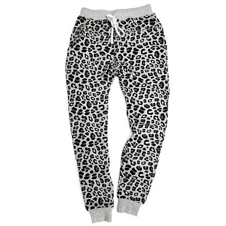 *Little Bipsy Collection Women's Joggers - Grey Leopard *CLEARANCE*