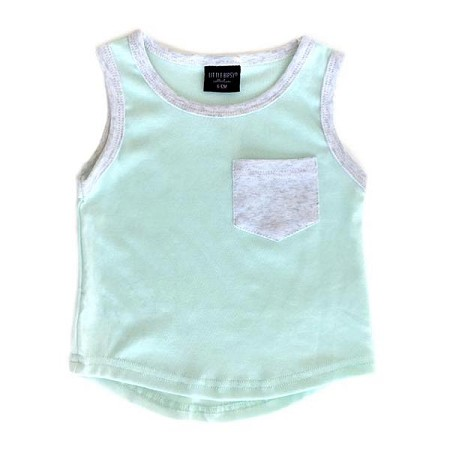 Little Bipsy Collection Pocket Tank - Mint