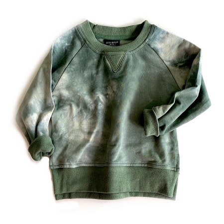 Little Bipsy Pullover - Sage Tie Dye (Size 0-3 Months) *CLEARANCE*