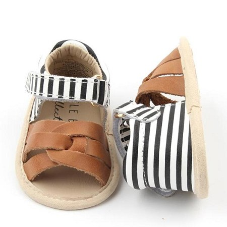 Little Bipsy Collection Sandals / Baylor / Camel & Black Stripe