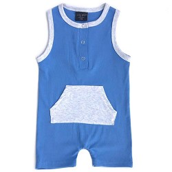 Little Bipsy Collection Shorty Romper - Blue