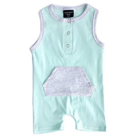 Little Bipsy Collection Shorty Romper - Mint