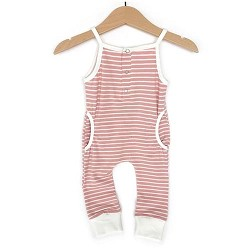 Little Bipsy Collection Tank Stripe Romper - Blush