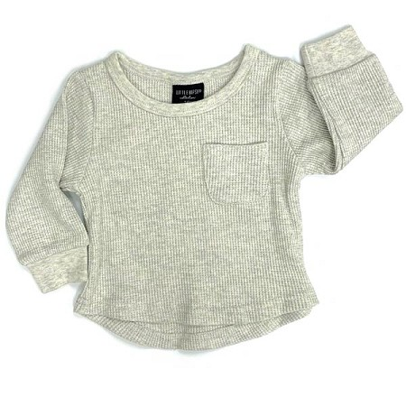 Little Bipsy Collection Thermal Top - Oatmeal *CLEARANCE*