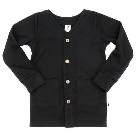 Little & Lively Bamboo/Cotton Cardigan - Black *CLEARANCE*