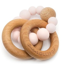 *Loulou Lollipop Bubble Silicone and Wood Teether