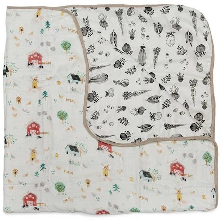 Loulou Lollipop Luxe Muslin Quilt Blanket - Farm Animals