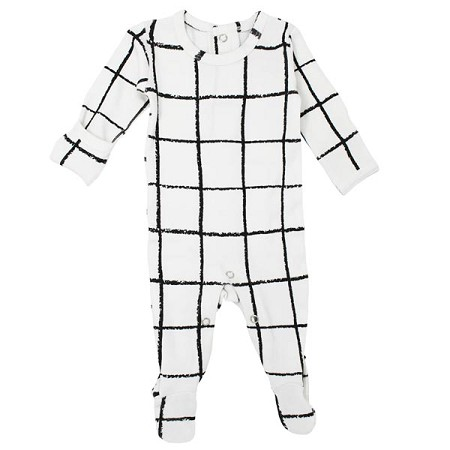 L'ovedbaby Organic Graphic Footie - Hopscotch *CLEARANCE*