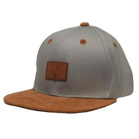 L&P Snapback Hat - Brooklyn - Concrete Grey & Caramel