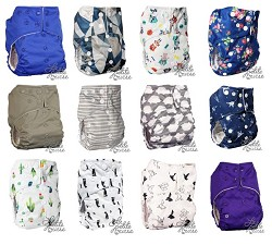 La Petite Ourse One-Size Pocket Cloth Diaper 12-Pack