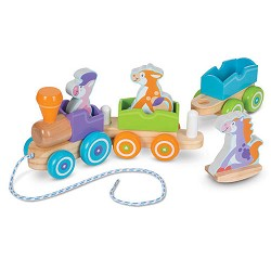 *Melissa & Doug First Play Wooden Animal Stacking Cars
