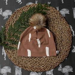 Little & Lively Pom Pom Beanie - Bambi *CLEARANCE*