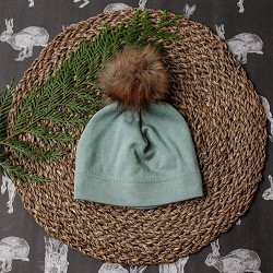 Little & Lively Pom Pom Beanie - Blue Spruce*CLEARANCE*