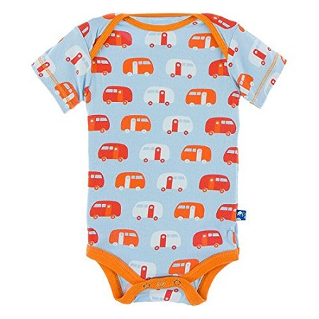 KicKee Pants Print Short Sleeve One-Piece - Pond Camper (Size Newborn) *CLEARANCE*